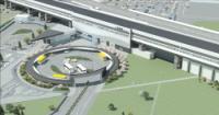 シーン1:駅周辺鳥瞰画像