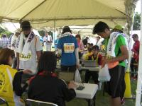 黒部名水マラソンボランティア活動