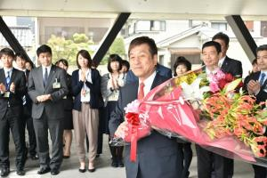State of Mayor Ōno first attendance at office