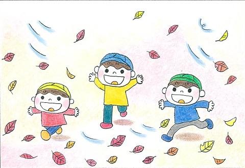 sukoyakakurobe child autumn